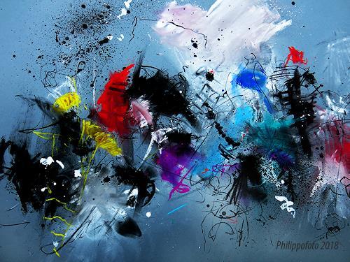 Rüdiger Philipp, einfach nur übereinander !, Abstract art, Fantasy, Abstract Expressionism