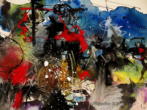 Rüdiger Philipp, immer warten !, Abstract art, Abstract art, Abstract Expressionism