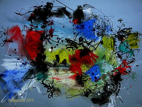 Rüdiger Philipp, Happy Easter !, Abstract art, Abstract art, Abstract Expressionism