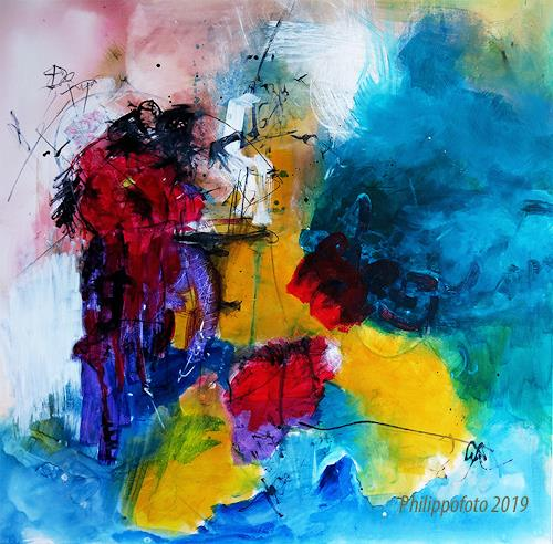 Rüdiger Philipp, genau dort durch !, Abstract art, Abstract art, Abstract Expressionism, Expressionism