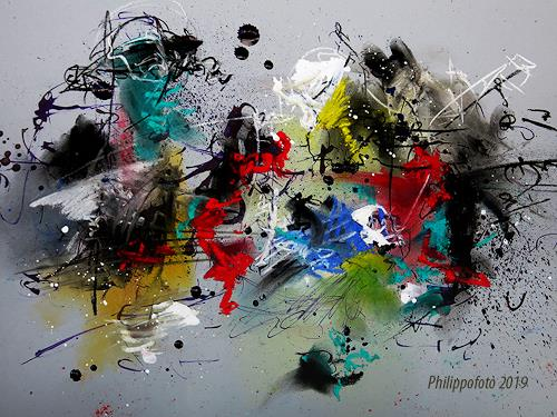 Rüdiger Philipp, neue haben es !, Abstract art, Abstract art, Abstract Expressionism