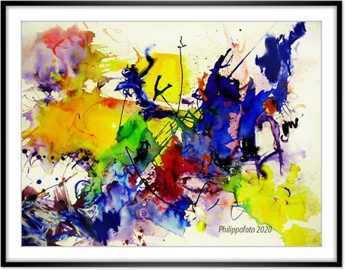 Rüdiger Philipp, ganz langsam !, Abstract art, Abstract art, Abstract Expressionism