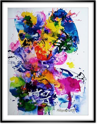 Rüdiger Philipp, Mann, der Golf !, Abstract art, Abstract art, Abstract Expressionism