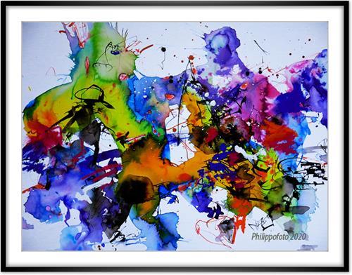 Rüdiger Philipp, kann's nicht lassen !, Abstract art, Abstract art, Abstract Expressionism