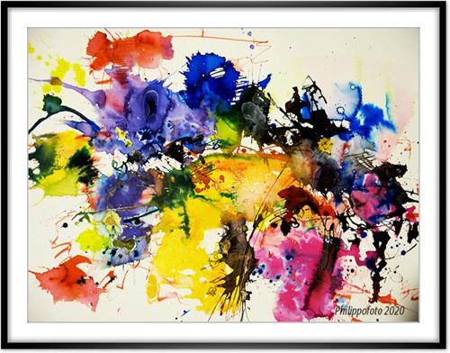 Rüdiger Philipp, Auge hört mit !, Abstract art, Abstract art, Abstract Expressionism