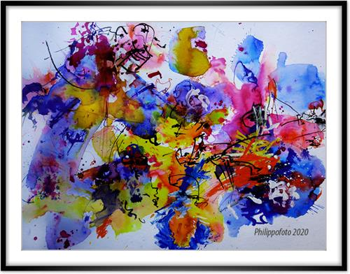 Rüdiger Philipp, 'auch möglich !, Abstract art, Abstract art, Abstract Expressionism