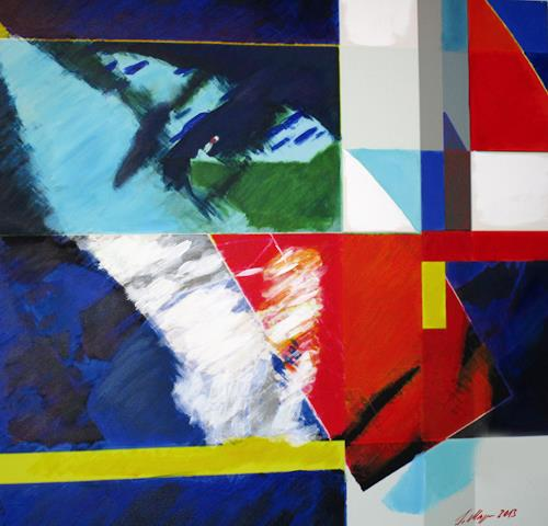 Santo Mazza, Fragment, People: Women, Abstract art, Expressive Realism