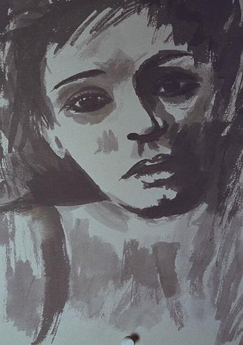 Santo Mazza, Tristes, People: Women, People: Faces, Expressive Realism