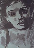 Santo-Mazza-People-Women-People-Faces-Modern-Age-Expressive-Realism