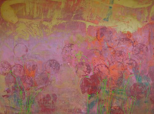 Anne Fabeck, oT / IMG 149, Plants, Plants: Flowers, Abstract Art, Expressionism
