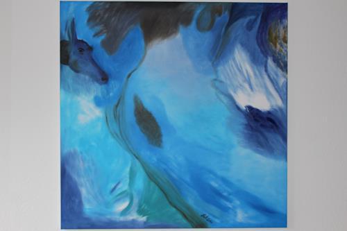 Heinz Kilchenmann, Pferd im Himmel, Animals: Air, Poetry, Abstract Expressionism