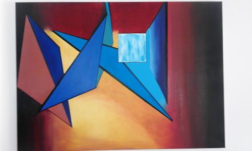 Heinz Kilchenmann, Farbreflektionen, Abstract art, Cubism