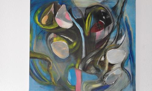Heinz Kilchenmann, lachender Blumenstrauss, Abstract art, Abstract Expressionism
