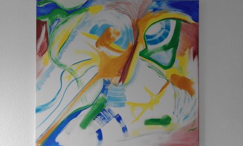 Heinz Kilchenmann, Uhu bei Tag, Animals: Air, Abstract Expressionism