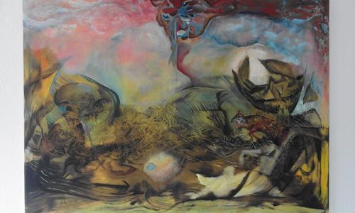 Heinz Kilchenmann, Unbekannte Kräfte, Abstract art, Neo-Expressionism