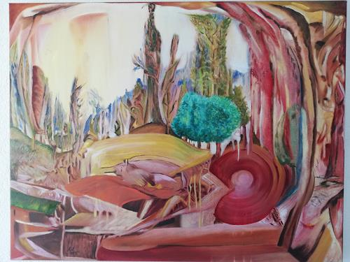 Heinz Kilchenmann, Place to take power, Fantasy, Abstract Expressionism, Expressionism