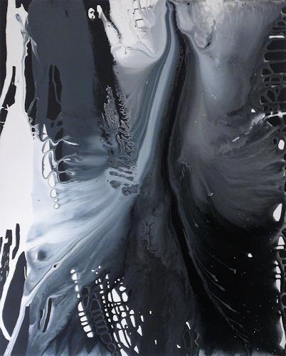 Annegret Poschlep, lass fliessen die zeit, Abstract art, Movement, Action Painting, Abstract Expressionism