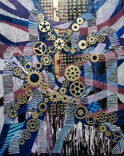 LK, Papierstau, Abstract art, The world of work, Abstract Art