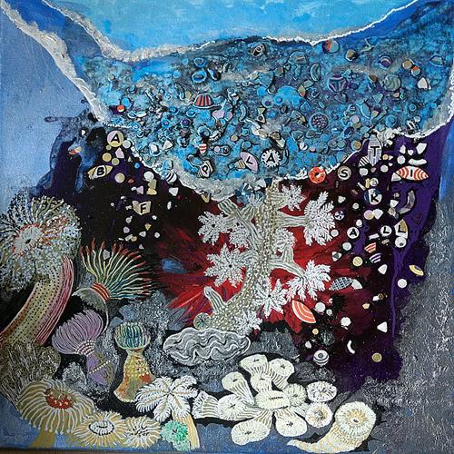 LK, schöne Unterwasserwelt, Nature: Water, Society, Abstract Art, Expressionism