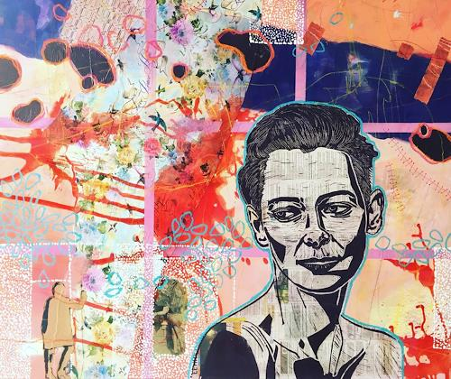 Marita Tobner, Tilda´s waiting, People: Women, People: Faces, Contemporary Art, Abstract Expressionism