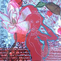 Marita-Tobner-People-Women-Plants-Flowers-Contemporary-Art-Contemporary-Art