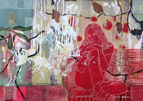 Marita Tobner, UMA I, People: Women, Plants: Flowers, Contemporary Art