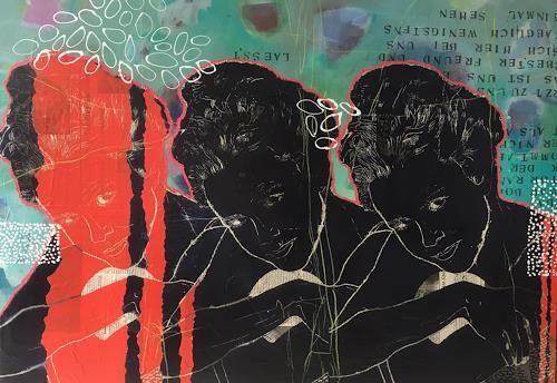 Marita Tobner, Nora's Albtraum (Serie Puppenheim), People, People: Women, Contemporary Art, Abstract Expressionism