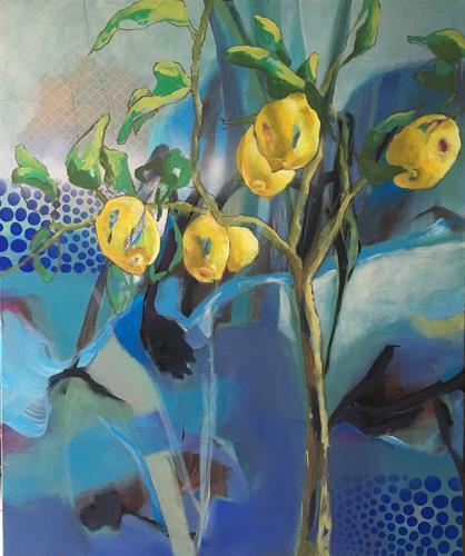 Marita Tobner, Im Land wo die Zitronen blühen, Landscapes, Plants, Contemporary Art, Expressionism