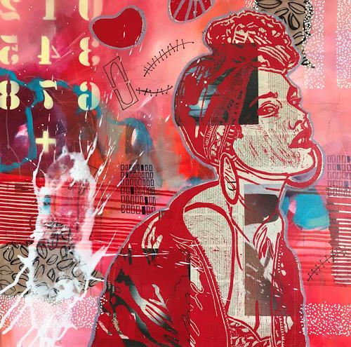 Marita Tobner, Zufluchtsort, People, People: Women, Concrete Art, Expressionism