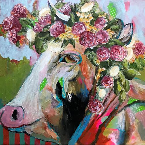 Marita Tobner, Tussnelda griast von dr Alm ra, Animals: Land, Burlesque, Expressive Realism, Abstract Expressionism