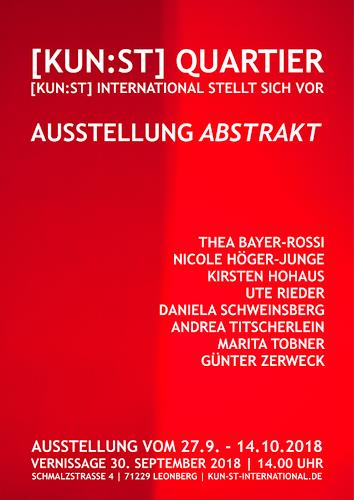 Marita Tobner, Ausstellung im [KUN:ST] Quartier Leonberg, Abstract art, Abstract Art