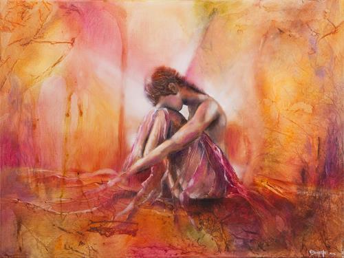 Elisabeth Burmester, im Tagtraum, People: Women, Abstract Art, Expressionism