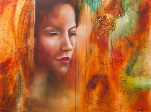 Elisabeth Burmester, Lanija, People: Faces, Abstract Art, Expressionism