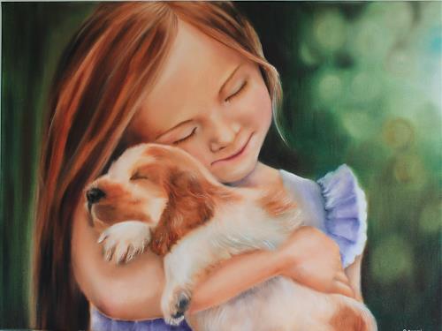 Elisabeth Burmester, My first love, People: Children, Emotions: Love, Photo-Realism, Expressionism