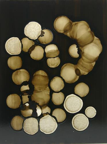 Stefan Drescher, Schwarze Atome | Black atoms, Abstract art, Tachism, Abstract Expressionism