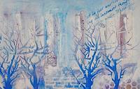 Zvonimir-Brumec-Landscapes-Winter-Modern-Age-Abstract-Art-Non-Objectivism--Informel-
