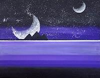 Zvonimir-Brumec-Outer-space-Moon-History-Modern-Age-Abstract-Art-Non-Objectivism--Informel-