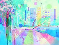 Zvonimir-Brumec-Fantasy-Emotions-Joy-Modern-Age-Abstract-Art-Non-Objectivism--Informel-
