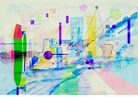 Zvonimir-Brumec-Landscapes-Summer-Abstract-art-Modern-Age-Abstract-Art-Non-Objectivism--Informel-