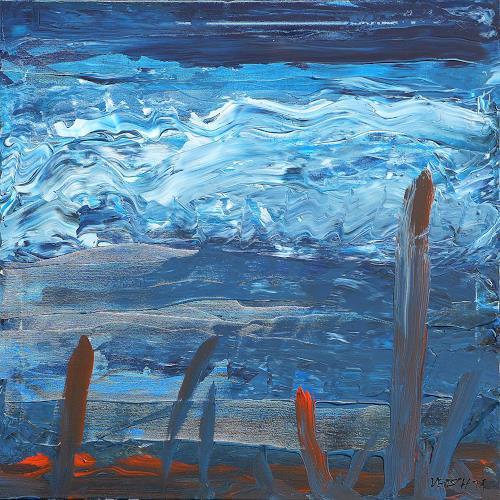 Peter Vetsch, Meersturm, Landscapes: Sea/Ocean, Nature: Water, Procesual Art, Abstract Expressionism