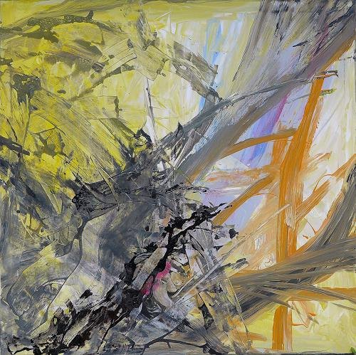 Peter Vetsch, Dark Energy, Movement, Symbol, Contemporary Art, Abstract Expressionism