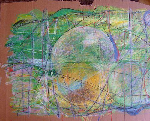 Mirjam Schadendorf, grün rund, Abstract art, Non-Objectivism [Informel]