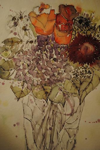 Christine Steeb, N/T, Nature, Plants, Expressive Realism, Expressionism