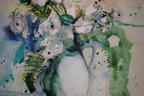 Christine Steeb, N/T, Nature, Plants, Abstract Art, Expressionism