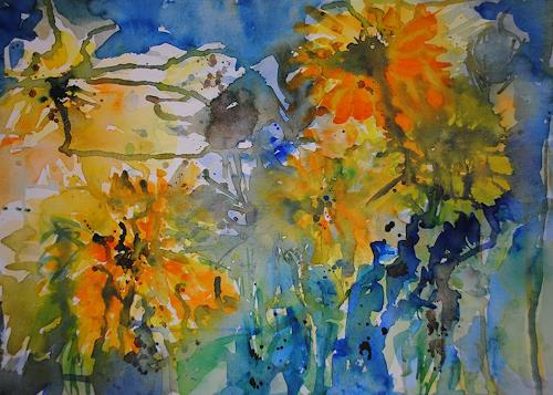 Christine Steeb, Sommerland, Plants: Flowers, Nature, Abstract Art, Expressionism