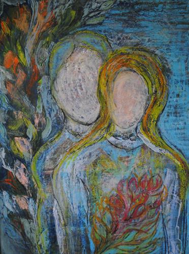 Das Paar By Christine Steeb People People Couples Painting