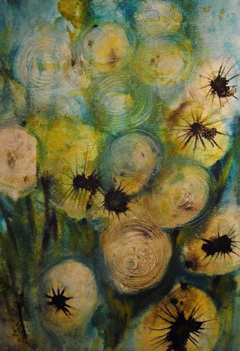 Christine Steeb, Pusteblumen, Plants: Flowers, Nature, Contemporary Art, Expressionism