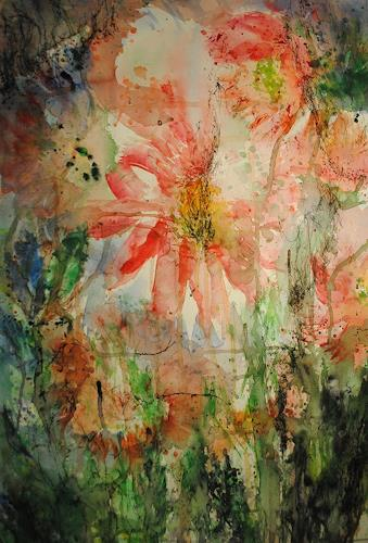 Christine Steeb, Pfingstrosen (4), Plants: Flowers, Nature, Contemporary Art, Expressionism