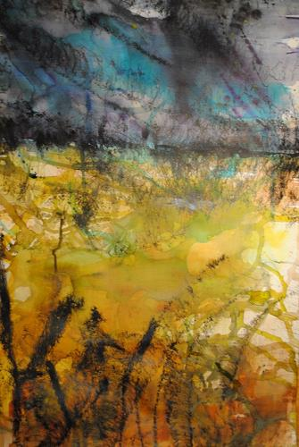 Christine Steeb, Sommergewitter, Nature, Landscapes: Summer, Abstract Art, Expressionism
