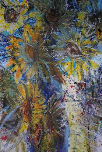 Christine Steeb, Herbstzauber, Plants: Flowers, Nature, Abstract Art, Expressionism